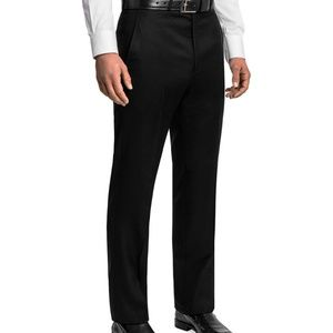 Black Ermenegildo Zenga 100% Wool Dress Pant 36R